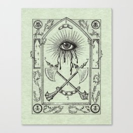 The Practices of Keeping One Eye Open Canvas Print
