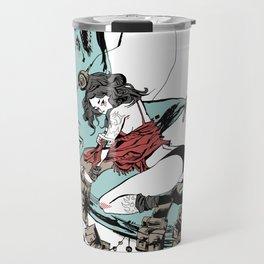 Aqua Nunchucks Travel Mug