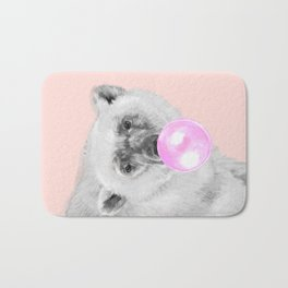 Bubble Gum Polar Bear Bath Mat