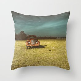 Lost In Time Truck Travel Throw Pillow