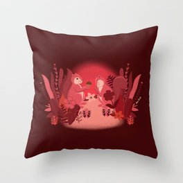 Squirrels in Love Throw Pillow