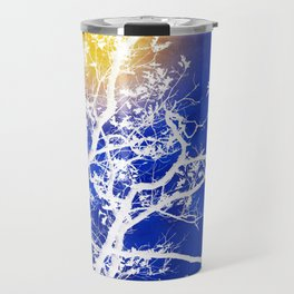Blue Tree Art Travel Mug