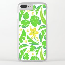 PERROQUET FLOWERS Clear iPhone Case