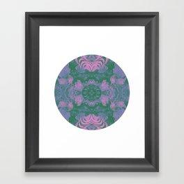 Moon Phase Warp Framed Art Print