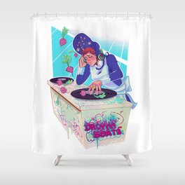 Amelia Bedelia drops the beat Shower Curtain