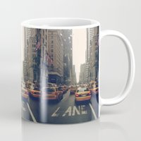 fifth element Mugs featuring Fifth Avenue  by Laura Ruth