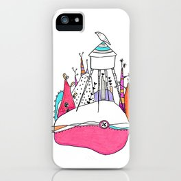 The Wolf and watertower. iPhone Case
