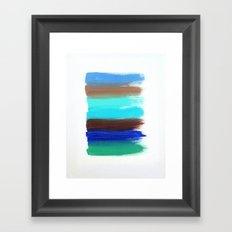 Streaks Framed Art Print