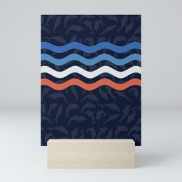Onde Dei Delfini Mini Art Print