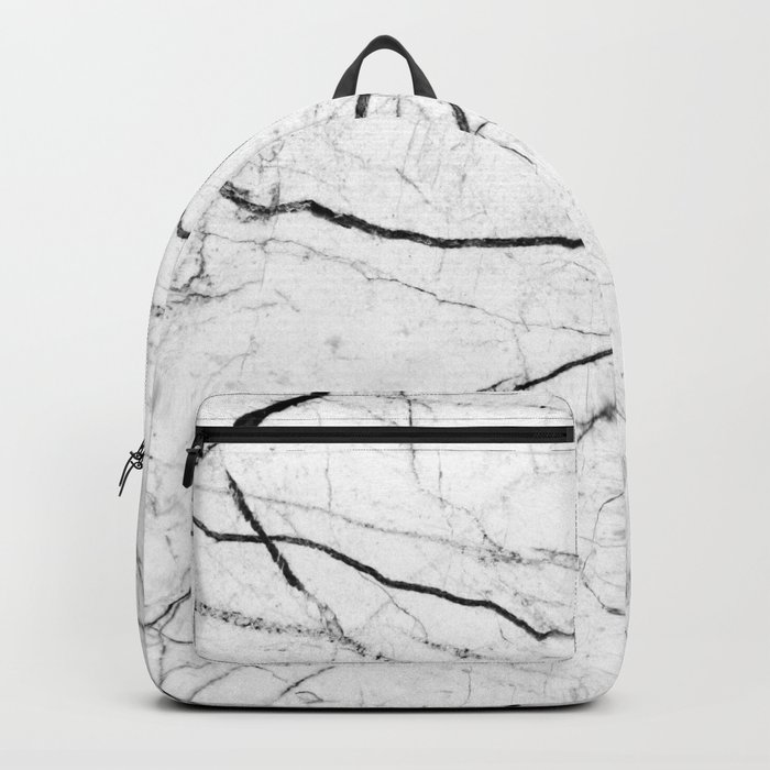 White marble abstract texture pattern Rucksack