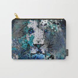 LION PRIDE ABSTRACT INK SPLASH PORTRAIT Carry-All Pouch
