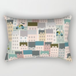 Motorbikes in the City Rectangular Pillow