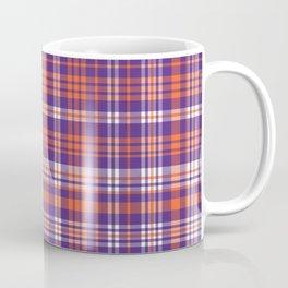 Varsity plaid purple orange and white clemson sports college football universities Coffee Mug