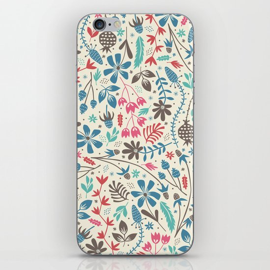 Retro Blooms iPhone Skin
