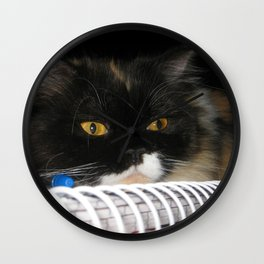 Cat Wanna Study Wall Clock