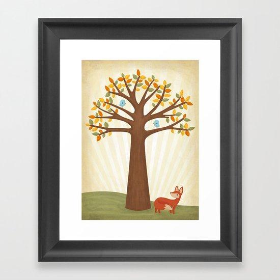 Autumn and the Fox Framed Art Print