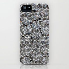 Grey Mosaic pattern iPhone Case