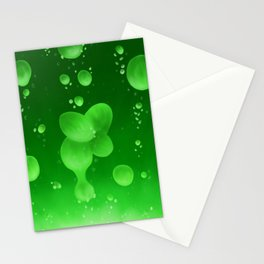 Lava Lamp Green Stationery Cards