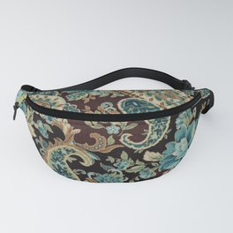 Brown Turquoise Paisley Fanny Pack