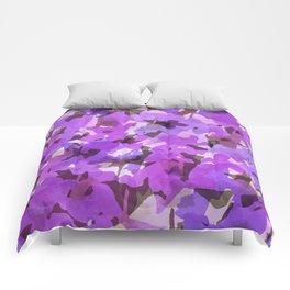Red Violet Field Flowers Comforters