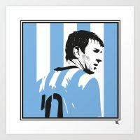 argentina Art Prints featuring Messi Argentina by lockerroom51