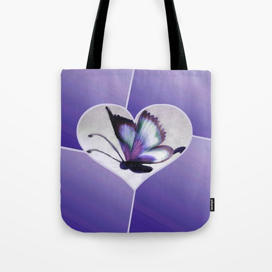 Butterfly Love - Purple Tote Bag