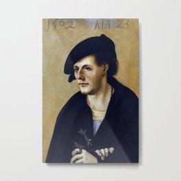 Hans Leonhard Schäufelein - Portrait of a Young Man Metal Print