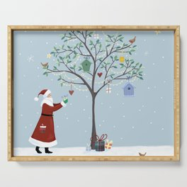 Santa Claus Dressing Tree Serving Tray