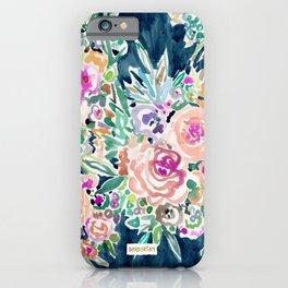 SO RICH Dark Boho Floral iPhone Case