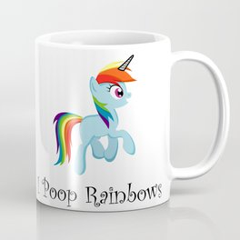 I Poop Rainbows Coffee Mug