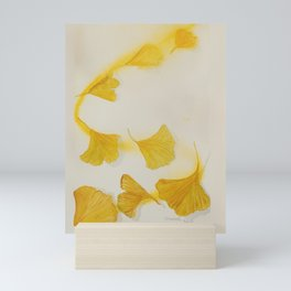 Ginkgo Fall Sun Mini Art Print