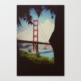 a view of Golden Gate Bridge Canvas Print