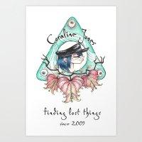 coraline Art Prints featuring Coraline Jones by Alizia Vence