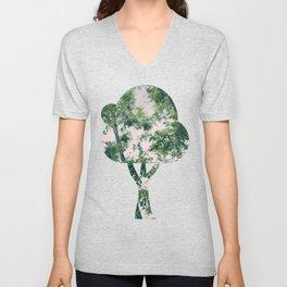 Spring Tree Branches Unisex V-Neck