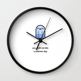 JUST A PUNNY POPSICLE JOKE! Wall Clock