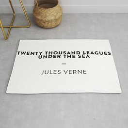 Twenty Thousand Leagues Under the Sea  —  Jules Verne Rug