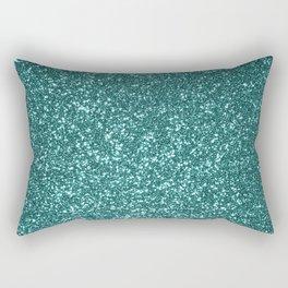 Sparkly Aqua Blue Turquoise Glitter Rectangular Pillow