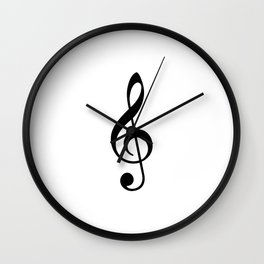 White and Black - Treble Clef Wall Clock