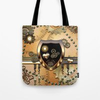 steampunk Tote Bags featuring Steampunk by nicky2342