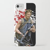 daryl iPhone & iPod Cases featuring Daryl Dixon by SB Art Productions