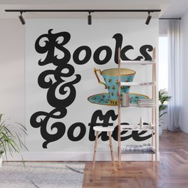 Books & Coffee Wall Mural