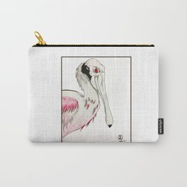 Rose the Spoonbill Carry-All Pouch