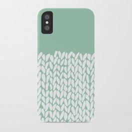 Half Knit Mint iPhone Case