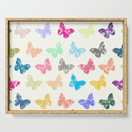 Colorful butterflies Serving Tray