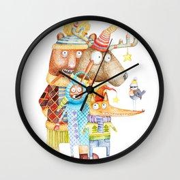 Christmas Animals Wall Clock