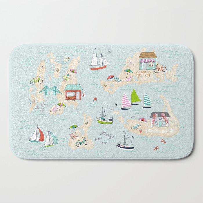 Summer On The Islands Bath Mat