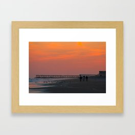 white wash Framed Art Print