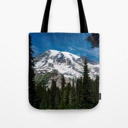 Mount Rainier in Summer Tote Bag