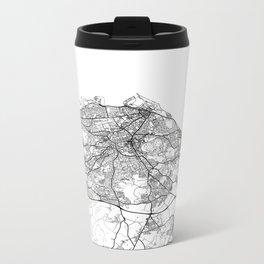 Edinburgh Map White Metal Travel Mug