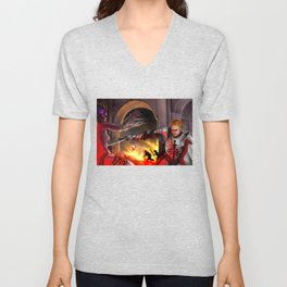 Dragon Age - Cullen - Tower in Flames Unisex V-Neck